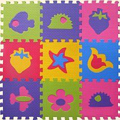 Коврик-пазл Babypuzz Веселые фигурки 33*33*1