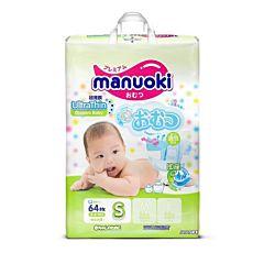 Подгузники Manuoki S (3-6 кг) 64 шт