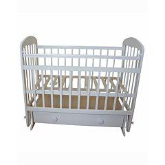 Кроватка детская Мой малыш Ивашка 8 (поперечный маятник) (белый)