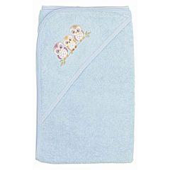 Полотенце с уголком Лео Совы 80х85см (голубое)