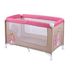 Манеж-кровать Bertoni Lorelli Nanny 2 (бежево-розовый/biege&rose princess 1703)