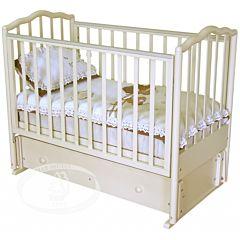 Кроватка детская Можга Ангелина (продольный маятник) (слоновая кость)