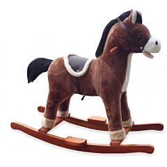 Лошадка-качалка BabyMix Oscar (коричневая)