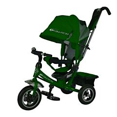 """Трехколесный велосипед Trike Power Neon с надувными колесами 10"""" и 8"""" (зеленый)"""