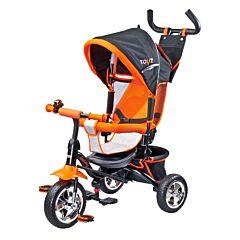 """Трехколесный велосипед Toyz Timmy с колесами 10"""" и 8"""" (оранжевый)"""