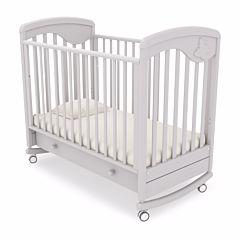 Кроватка детская Гандылян Джулия (качалка-колесо) (белая ночь)
