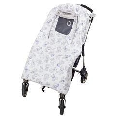 Солнцезащитный тент для коляски Mammie (серый с голубым)
