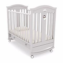Кроватка детская Гандылян Даниэль (качалка-колесо) (белая ночь)
