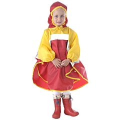 Дождевик детский Чудо-Чадо Светлячок (р.122-128) (Красно-жёлтый)