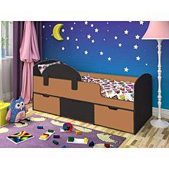 Кровать детская Ярофф Малыш Мини (венге темный/вишня оксфорд)
