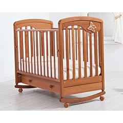 Кроватка детская Гандылян Джулия (качалка-колесо) (вишня)