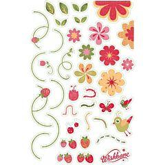 Наклейки на раму для беговела Wishbone Bike Original (flowers)