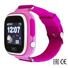 Детские часы с GPS-трекером SmartBabyWatch Q80 (розовый)