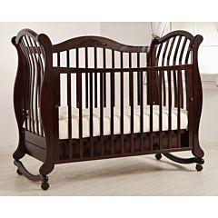 Кроватка детская Гандылян Габриэлла Люкс (качалка-колесо) (махагон)