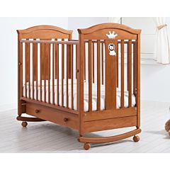Кроватка детская Гандылян Даниэль (качалка-колесо) (вишня)