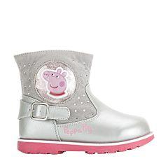 Полусапоги детские Peppa Pig 6287B для девочек (серые)
