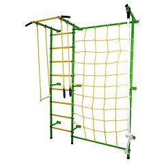 Детский спортивный комплекс Лидер С-02 М с сеткой (зелено-желтый)