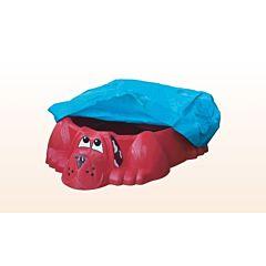 Песочница-бассейн Palplay Собачка с покрытием (Красный)