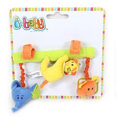 Развивающая игрушка-подвязка I-Baby Друзья из джунглей