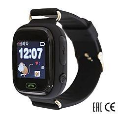 Детские часы с GPS-трекером SmartBabyWatch Q80 (черный)