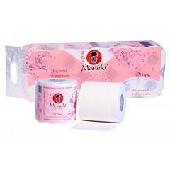 "Туалетная бумага Maneki (10 рулонов), аромат ""Сакура"""