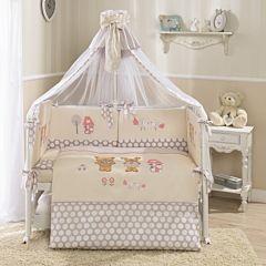 Комплект постельного белья Perina Венеция 105х170см (7 предметов, сатин) (бежевый)