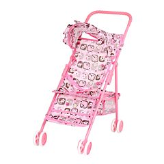 Коляска для куклы Melobo 9317W (Светло-розовый/бабочки)