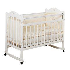 Кроватка детская Incanto Sofi (Качалка-колесо) (белый)