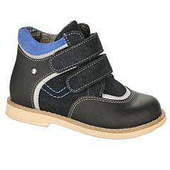 Ботинки ортопедические Twiki утепленные (черно-синие, 21-25)