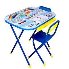 Комплект детской мебели Дэми Дошкольник. Блокнот (Синий)