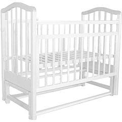 Кроватка детская Saidov Лаура 5 (поперечный маятник) (белый)