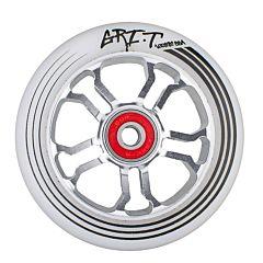 Колесо для самоката Grit Ultra Light 100мм ABEC 9 (серебристо-белое)