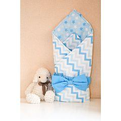 Одеяло на выписку летнее Арго Звездочка (голубое)