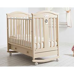 Кроватка детская Гандылян Даниэль (качалка-колесо) (слоновая кость)