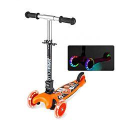 Самокат Small Rider Randy Flash со светящимися колесами и регулировкой руля (оранжевый)