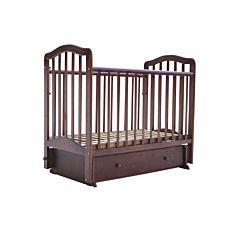 Кроватка детская Saidov Лаура 5 с ящиком (поперечный маятник) (шоколад)