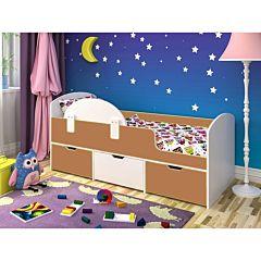 Кровать детская Ярофф Малыш Мини (белое дерево/вишня оксфорд)