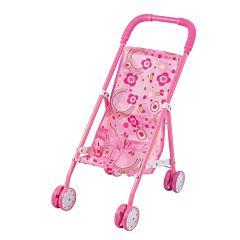 Коляска для куклы Fei Li Toys трость (розовая) FL6076