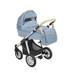 Коляска 2 в 1 Baby Design Dotty Denim (голубой)