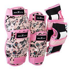 Комплект защиты MaxCity Fish S (розовый)