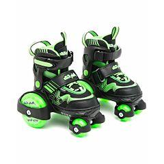 Роликовые коньки-квады Moby Kids KK (р.26-29) (Зеленый)