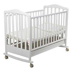 Кроватка детская Papaloni Винни (качалка-колесо) (Белый)