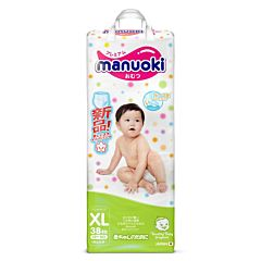 Подгузники-трусики Manuoki XL (12+ кг) 38 шт
