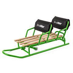 Санимобиль для двойни с колесиками Small Rider Snow Twins (зеленый)