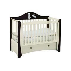 Кроватка детская Papaloni Olivia (продольный маятник) (Шоколад/слоновая кость)