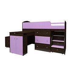 Кровать-чердак Ярофф Малыш Большой (венге/фиолетовый)