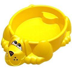 Песочница-бассейн Palplay Собачка с покрытием (Желтый)