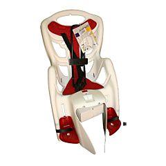 Велокресло на багажник Bellelli Pepe Clamp до 22 кг (белое)