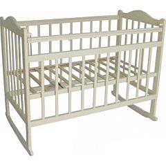 Кроватка детская Мой малыш Ивашка 1 (качалка-колесо) (слоновая кость)