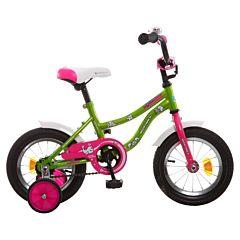 """Детский велосипед Novatrack Neptune 12"""" (2016) (салатовый)"""